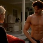 Alcide True Blood scene half Naked (as usual)