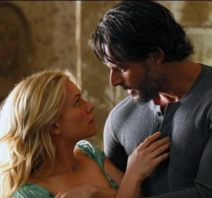 Alcide with Sookie in True Blood