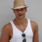 Joe Manganiello with wife beater shirt