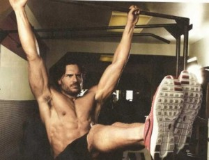 Joe Manganiello working his Abs