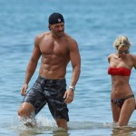 Joe Manganiello with girlfriend on beach